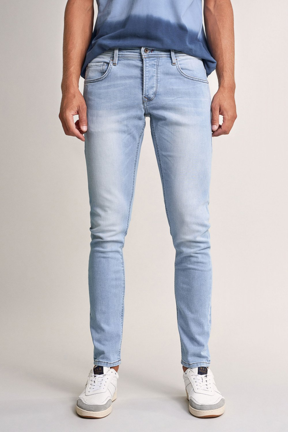 Jogger slim premium wash light rinse jeans - Salsa