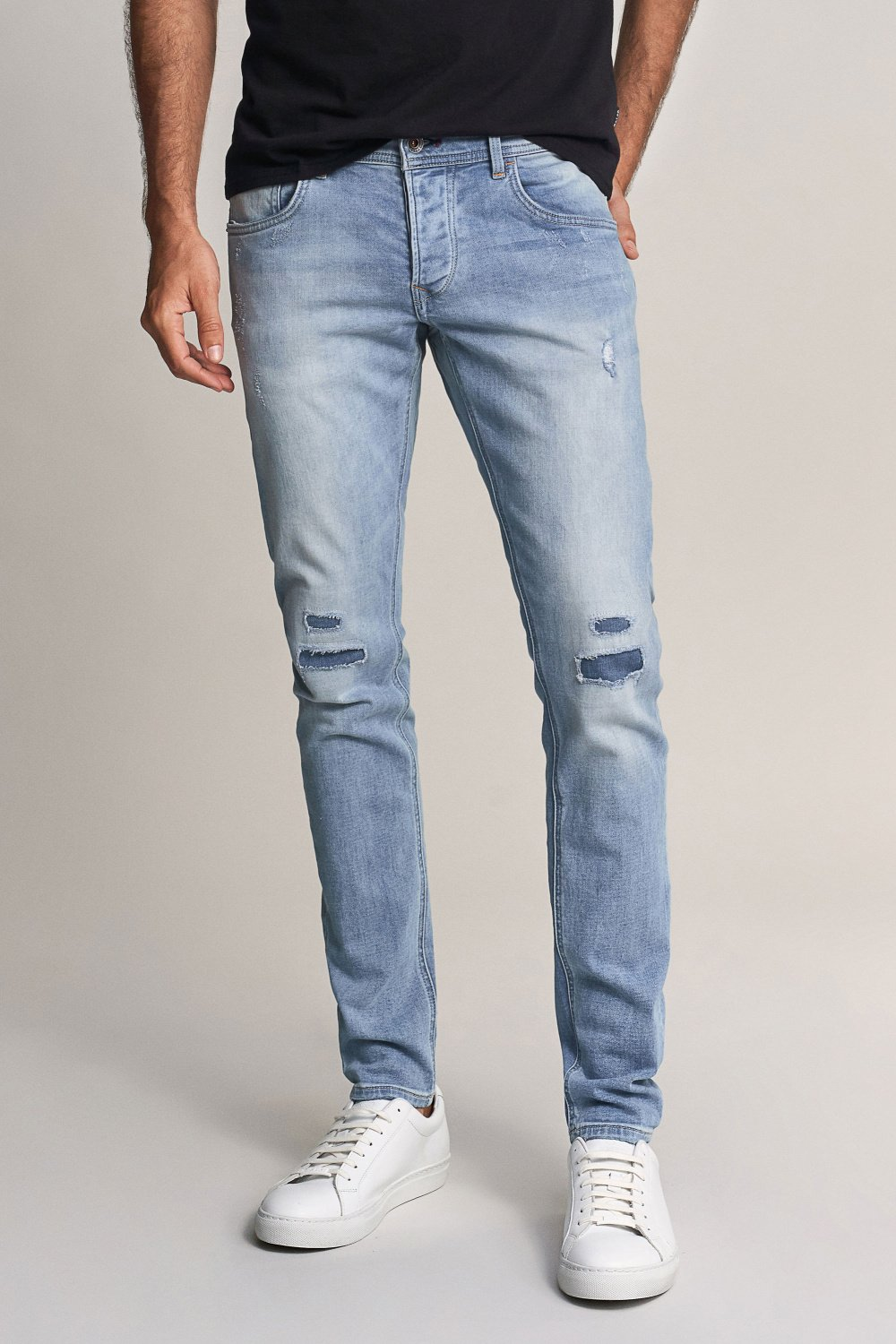 Jogger Skinny Clash premium wash light rinse jeans - Salsa