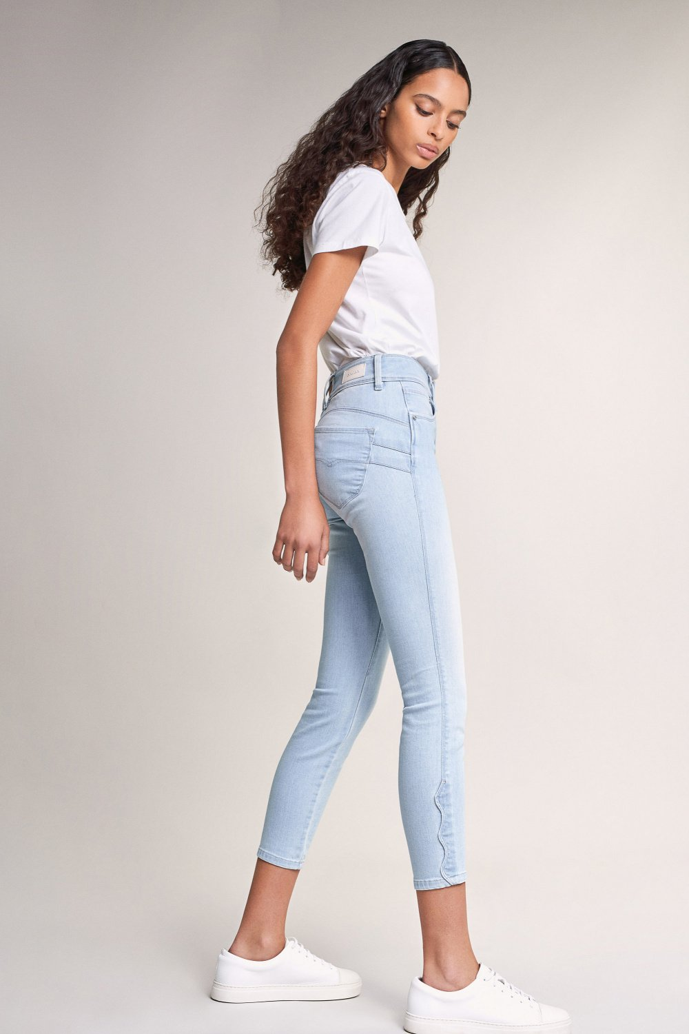 Push In Secret capri jeans with wave detail - Salsa
