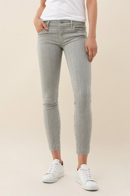 Push Up Wonder Capri Striped Jeans Chino Pants Salsa Jeans