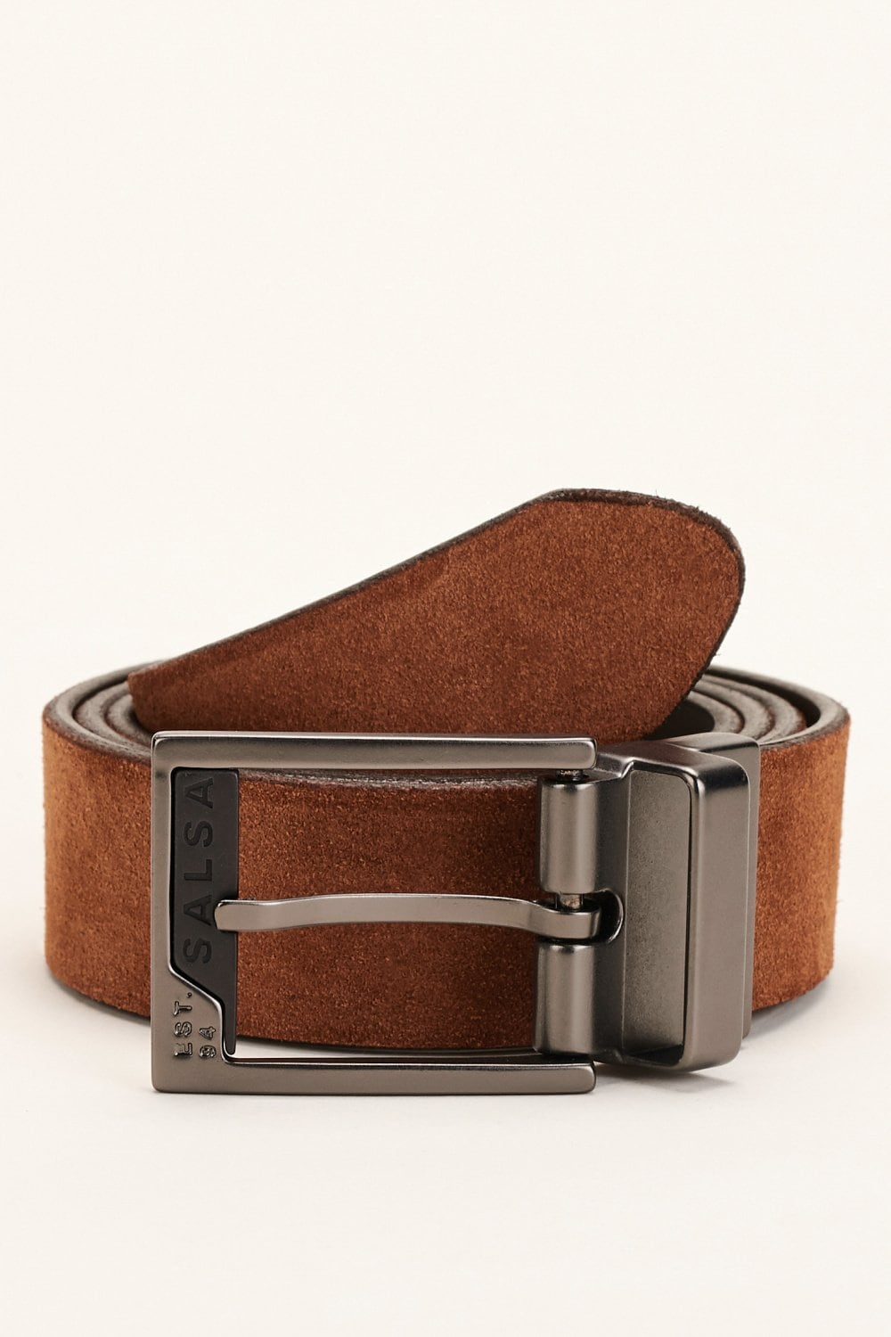 Reversible belt in leather and suede - Salsa