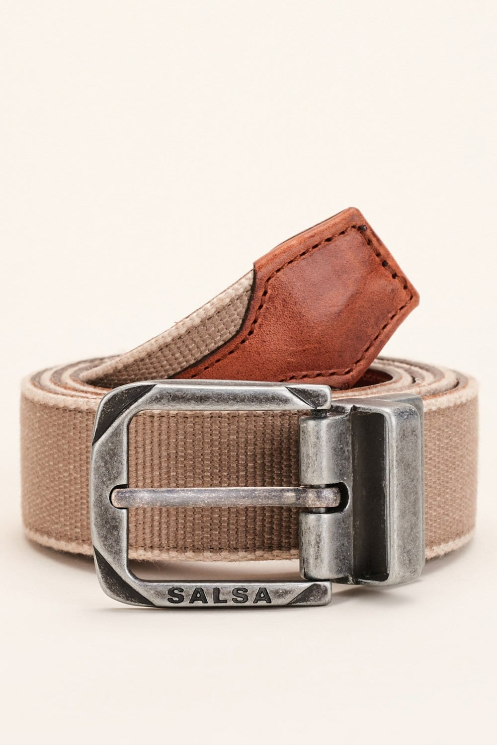Reversible strap belt with leather - Salsa