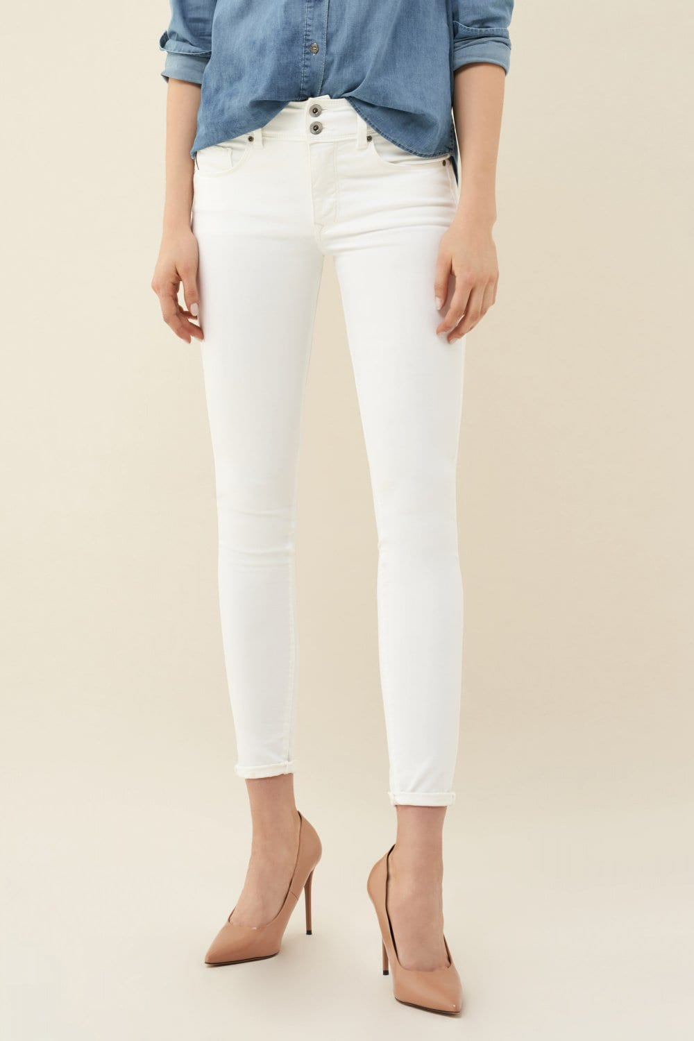 Jeans Push In Secret skinny anti-manchas - Salsa