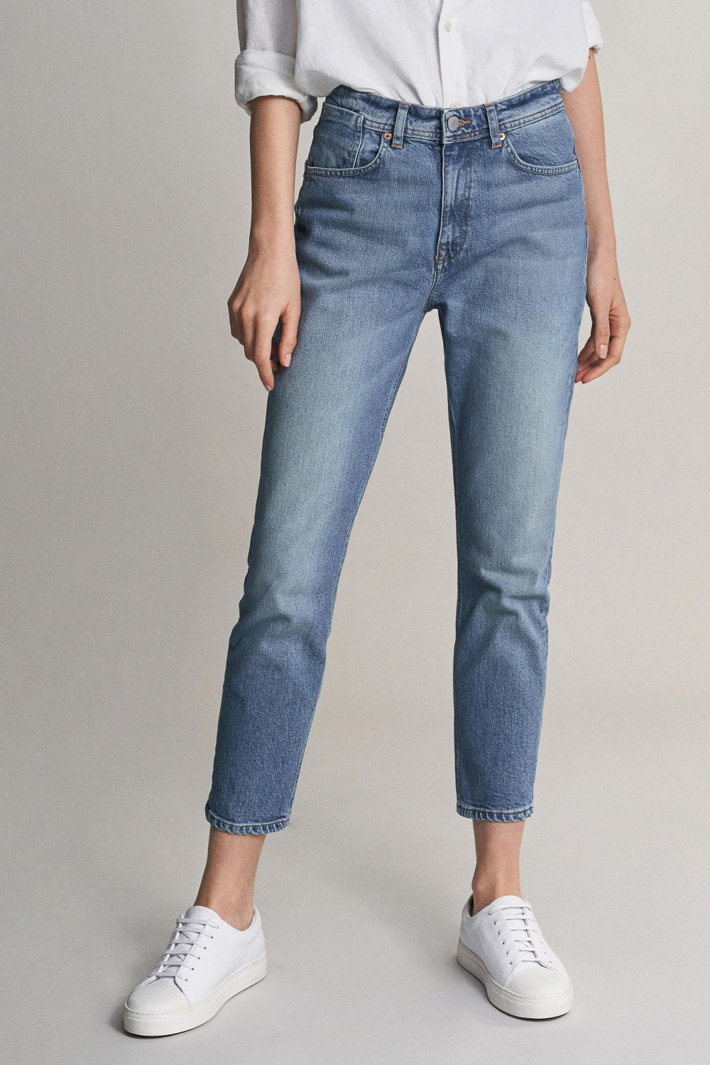 Mom capri jeans with vintage look - Salsa