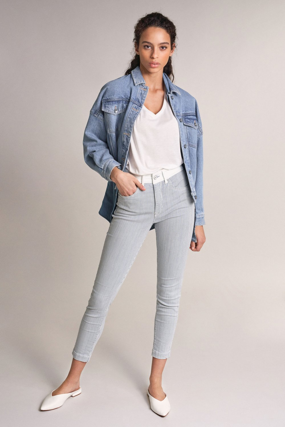 Jeans Push In Secret Glamour capri de riscas - Salsa