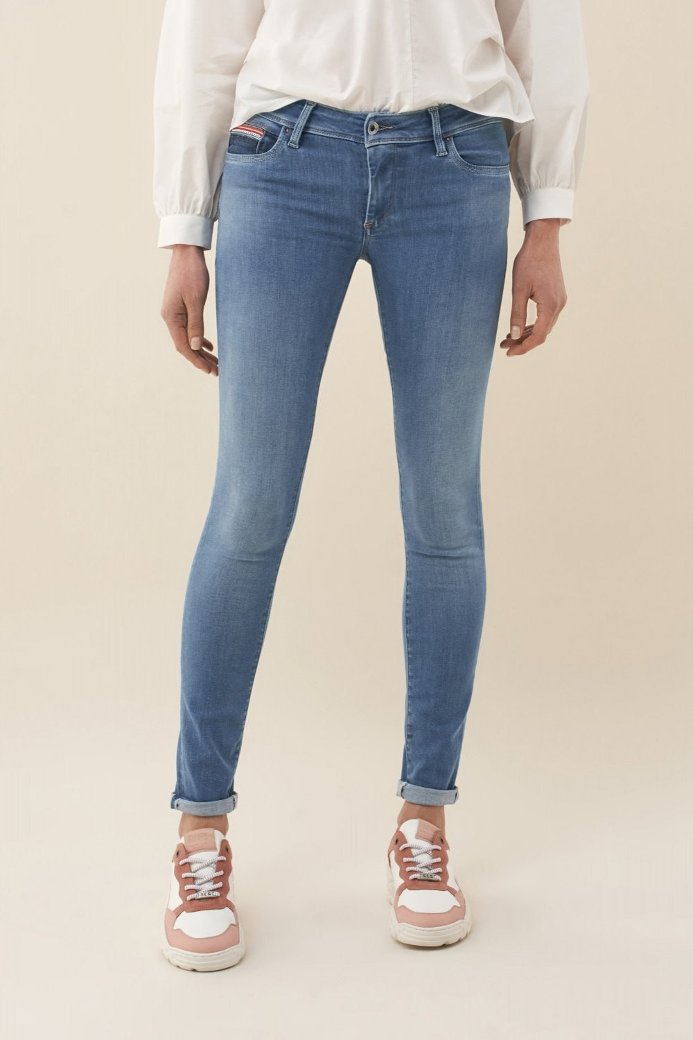 Push Up Wonder skinny jeans with chain detail - Salsa