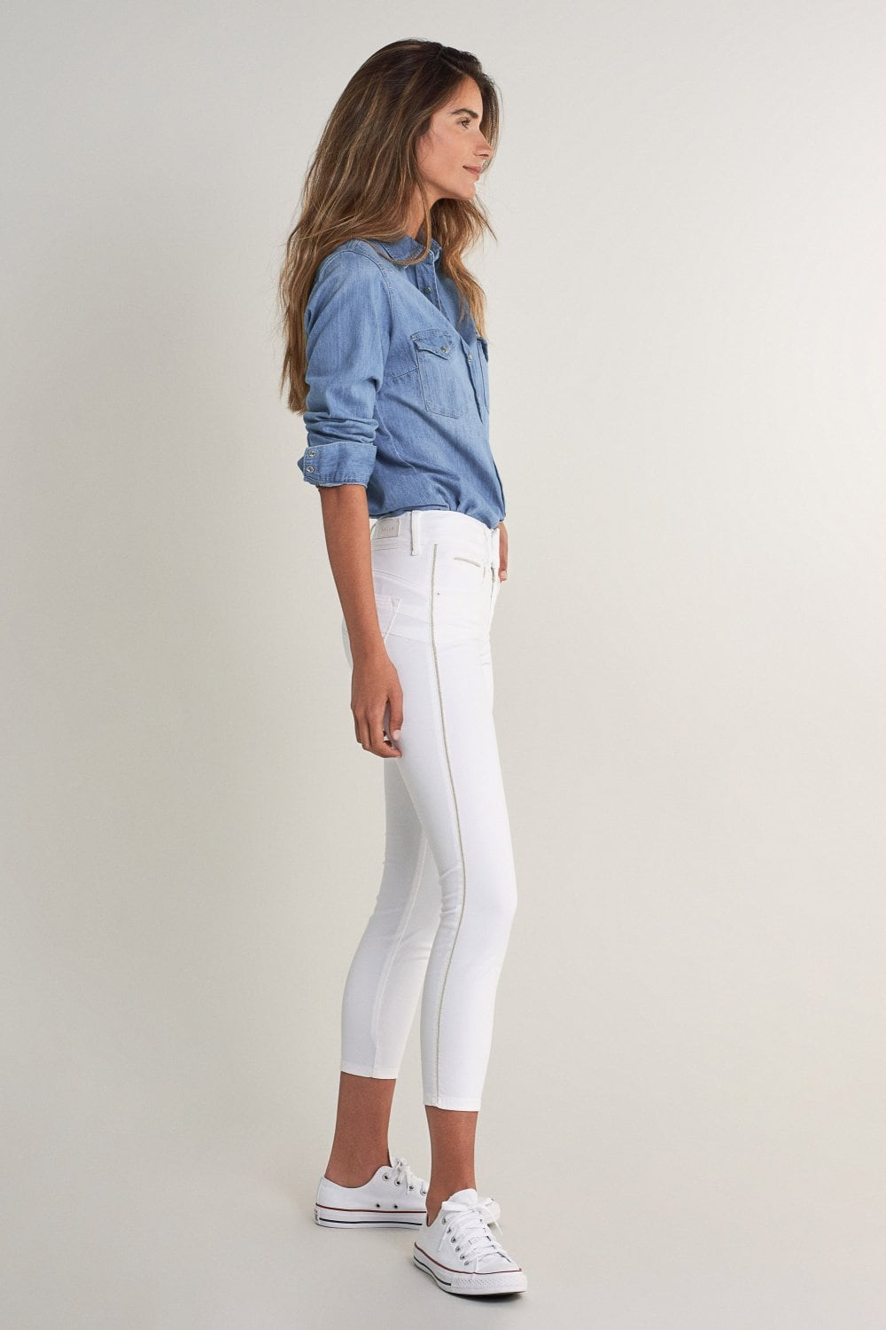 Push In Secret capri jeans with detail on side - Salsa