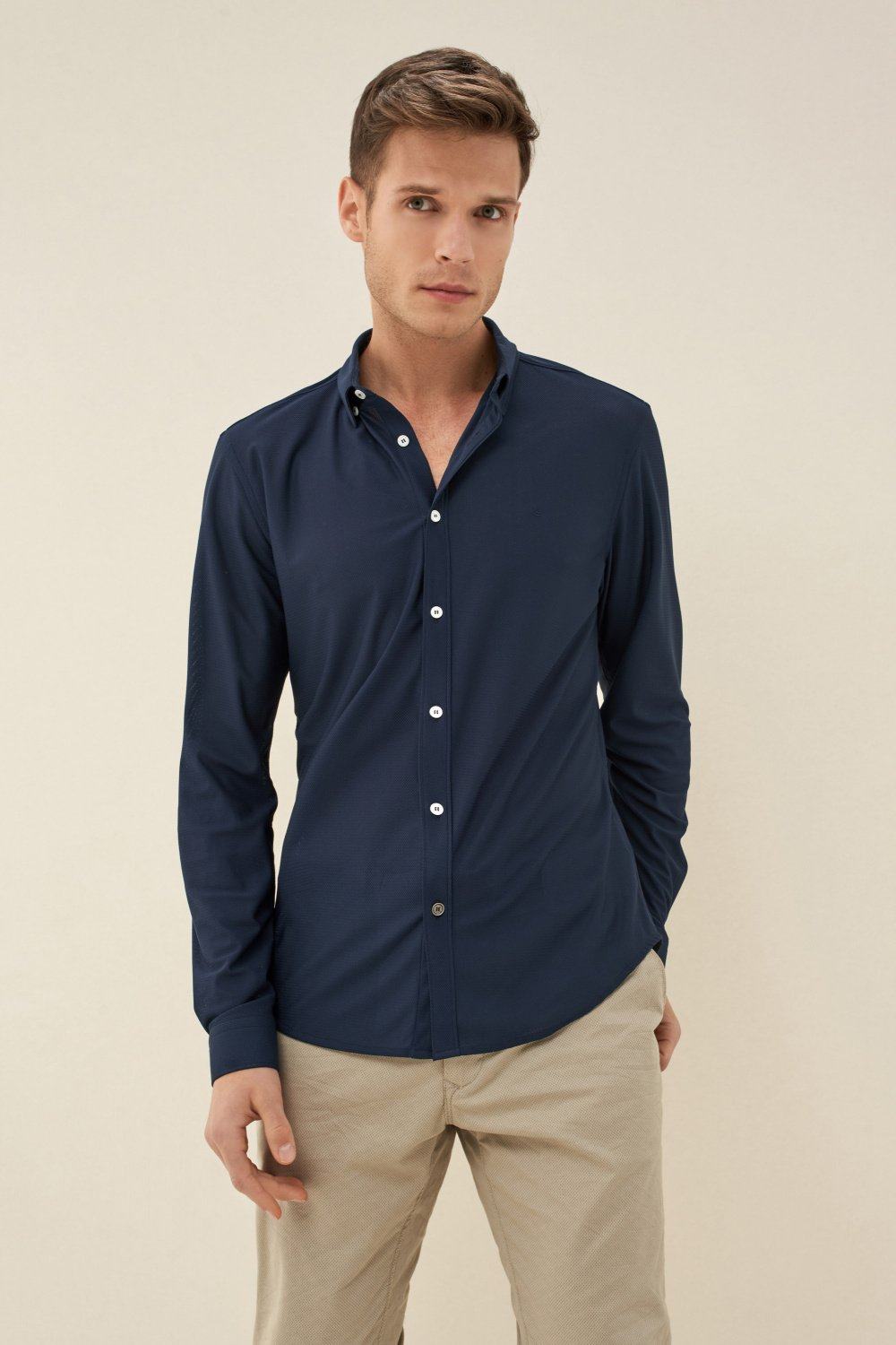 Camisa fit slim Denim2GO - Salsa