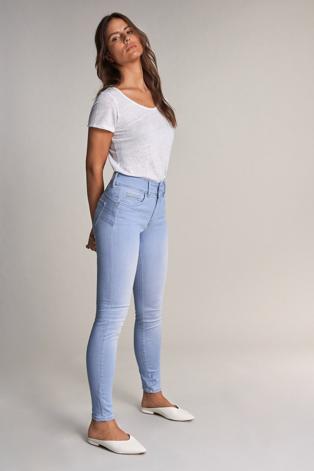 Jeans Push In Secret skinny com detalhe no bolso - Salsa