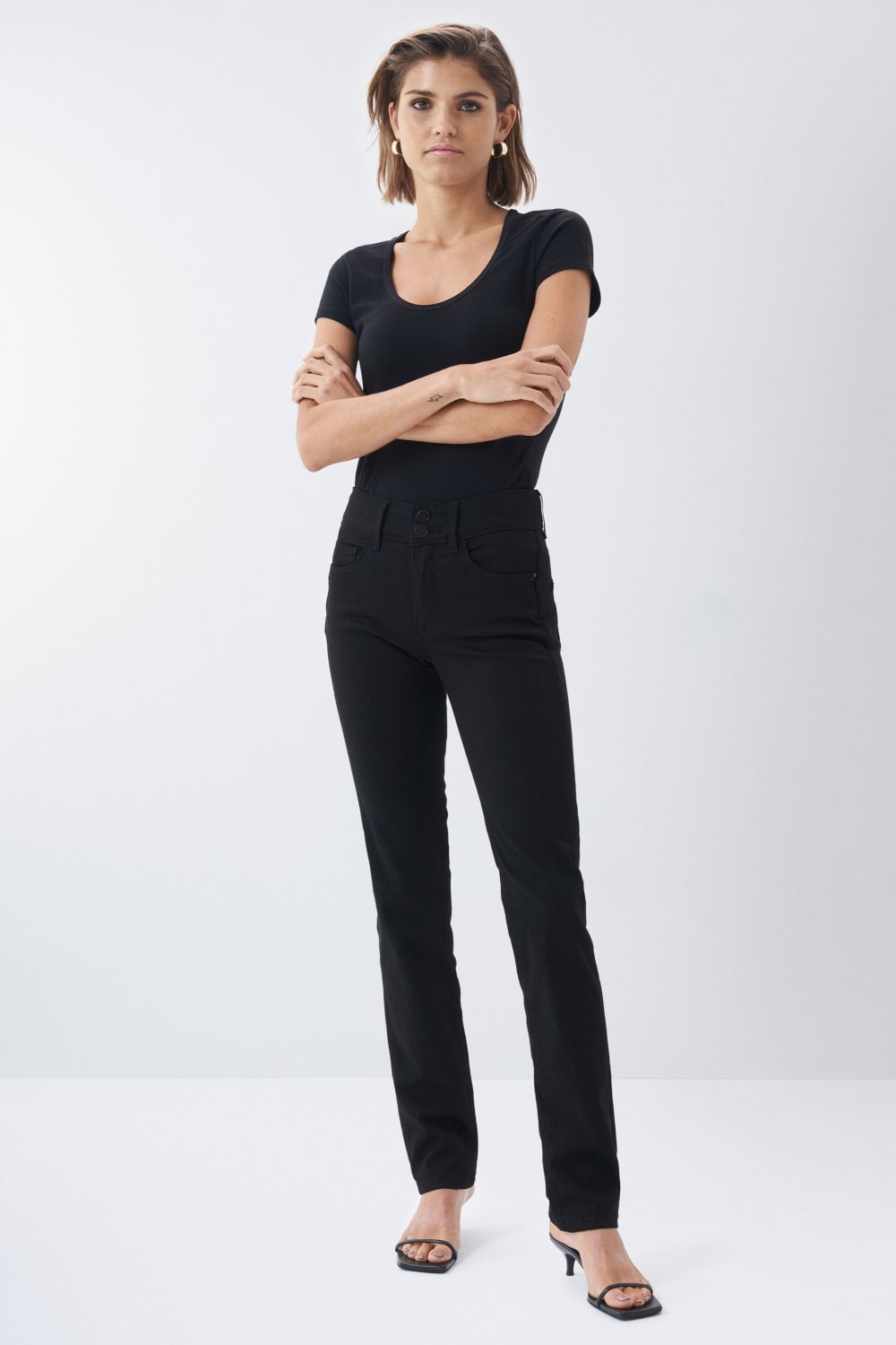 Jeans secret push in slim true black - Salsa