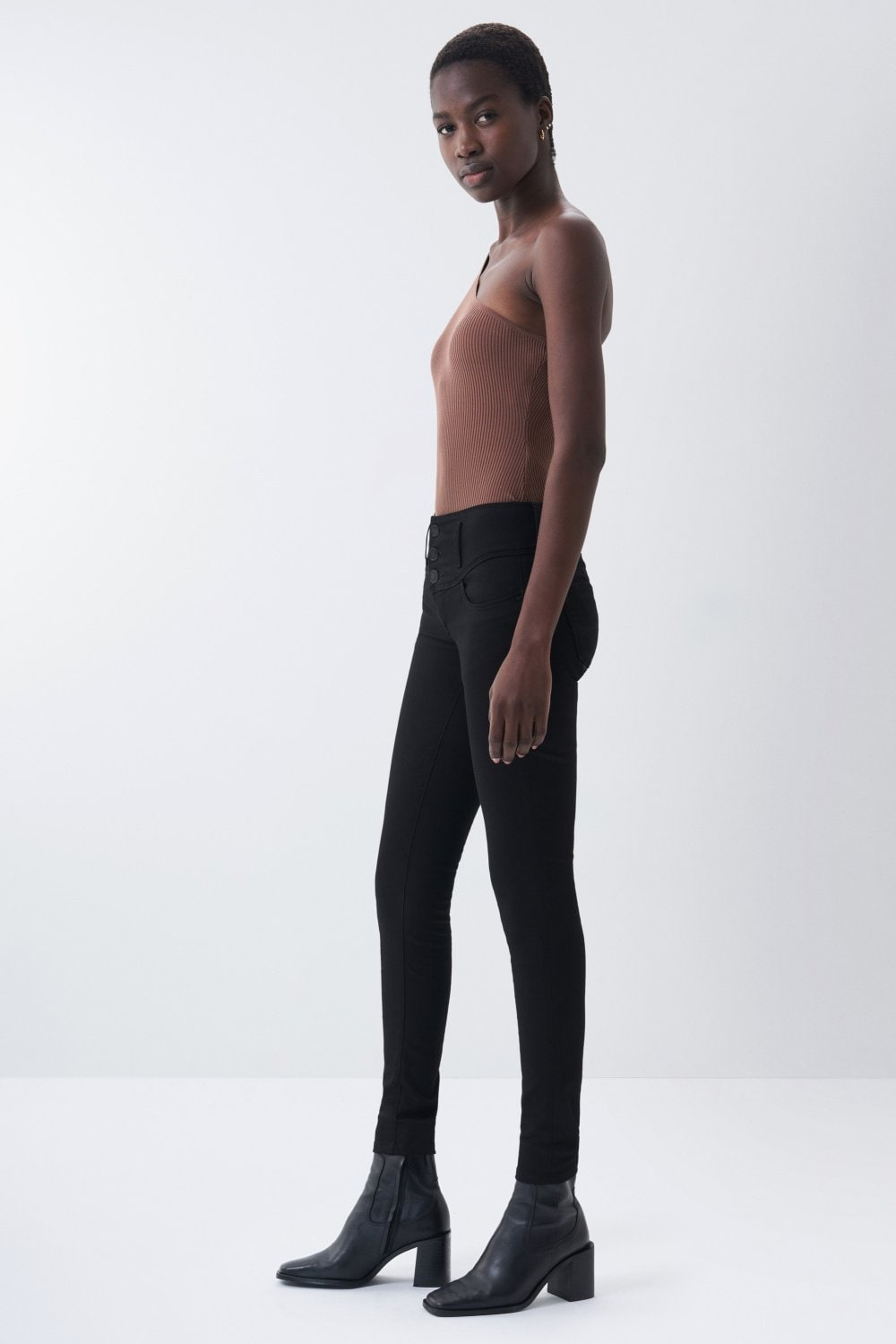 Jeans mystery push up skinny true black - Salsa