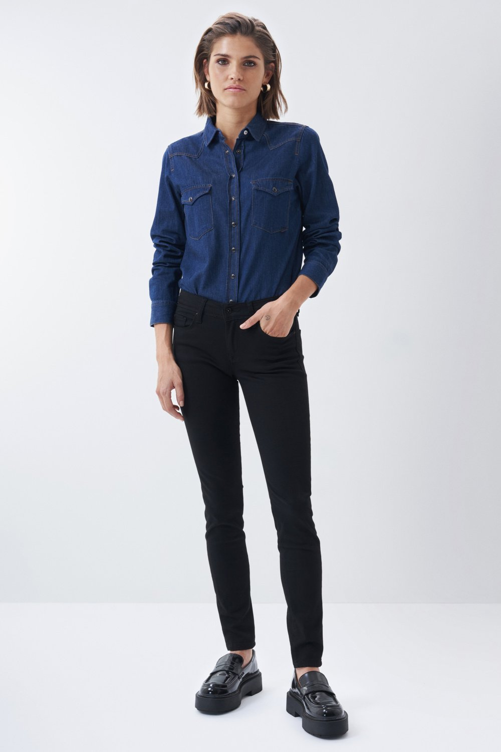 Pantaloni chino colette skinny in denim - Salsa