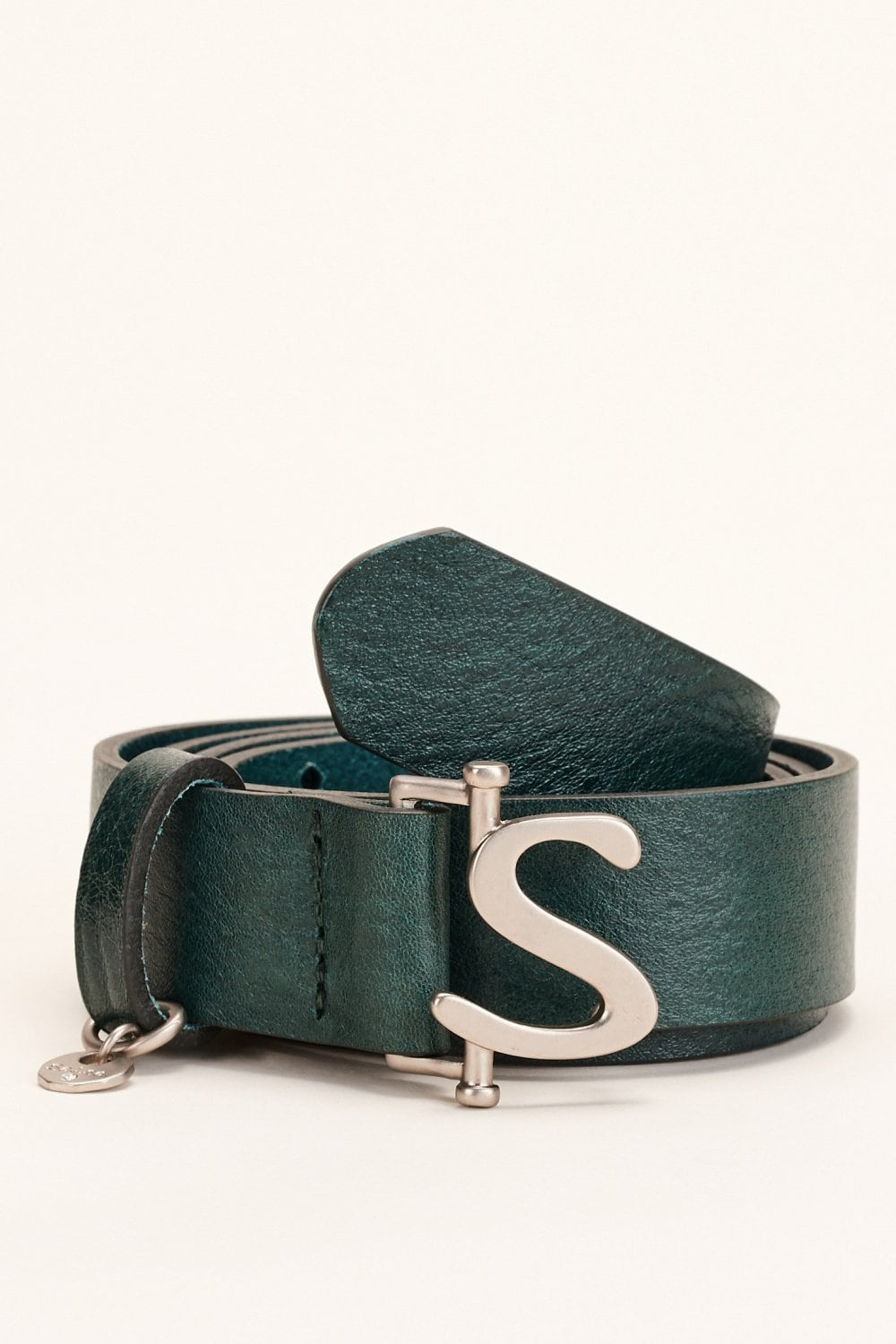 Leather belt with logo detail - Salsa