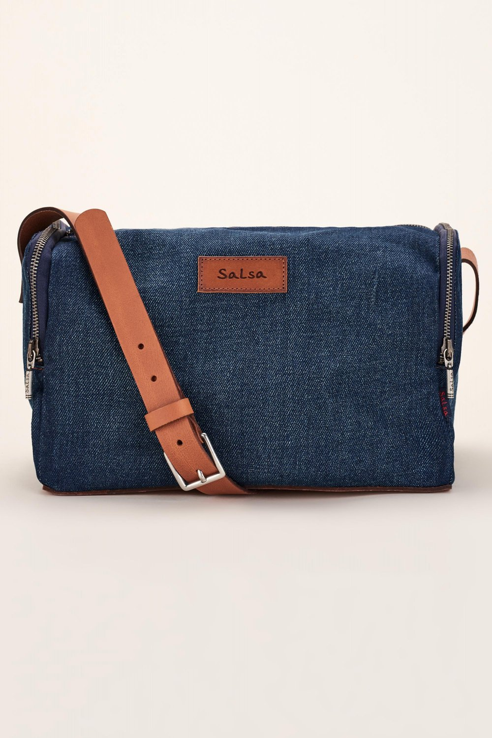 Handbag in organic denim - Salsa