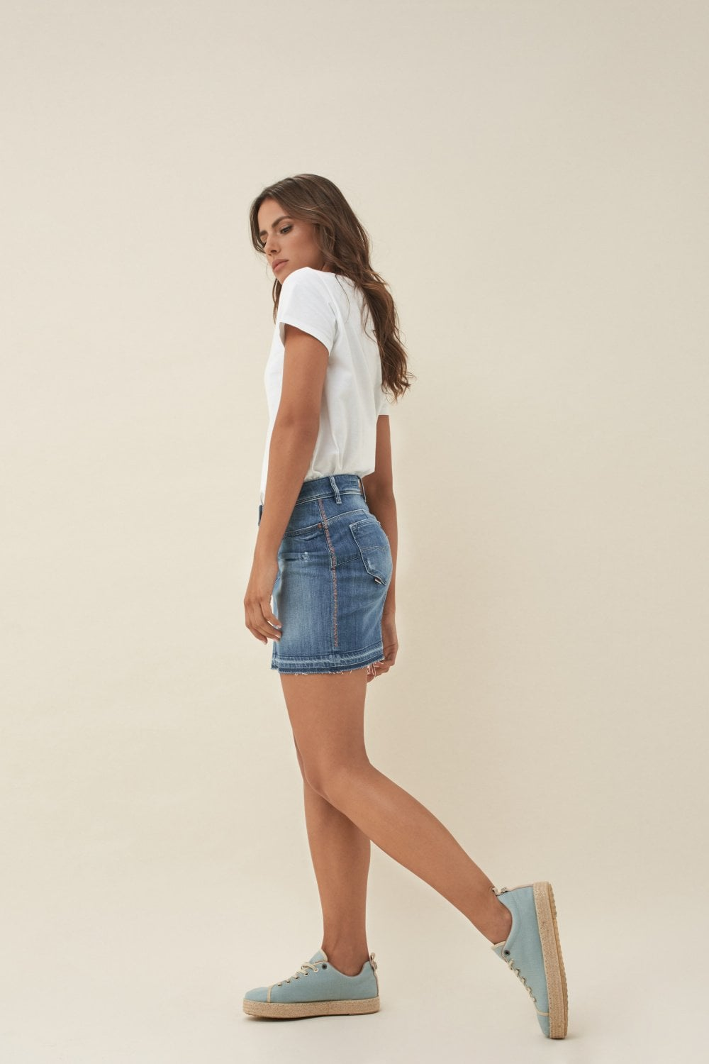 Push Up Shape Up miniskirt with stitching on hem - Salsa