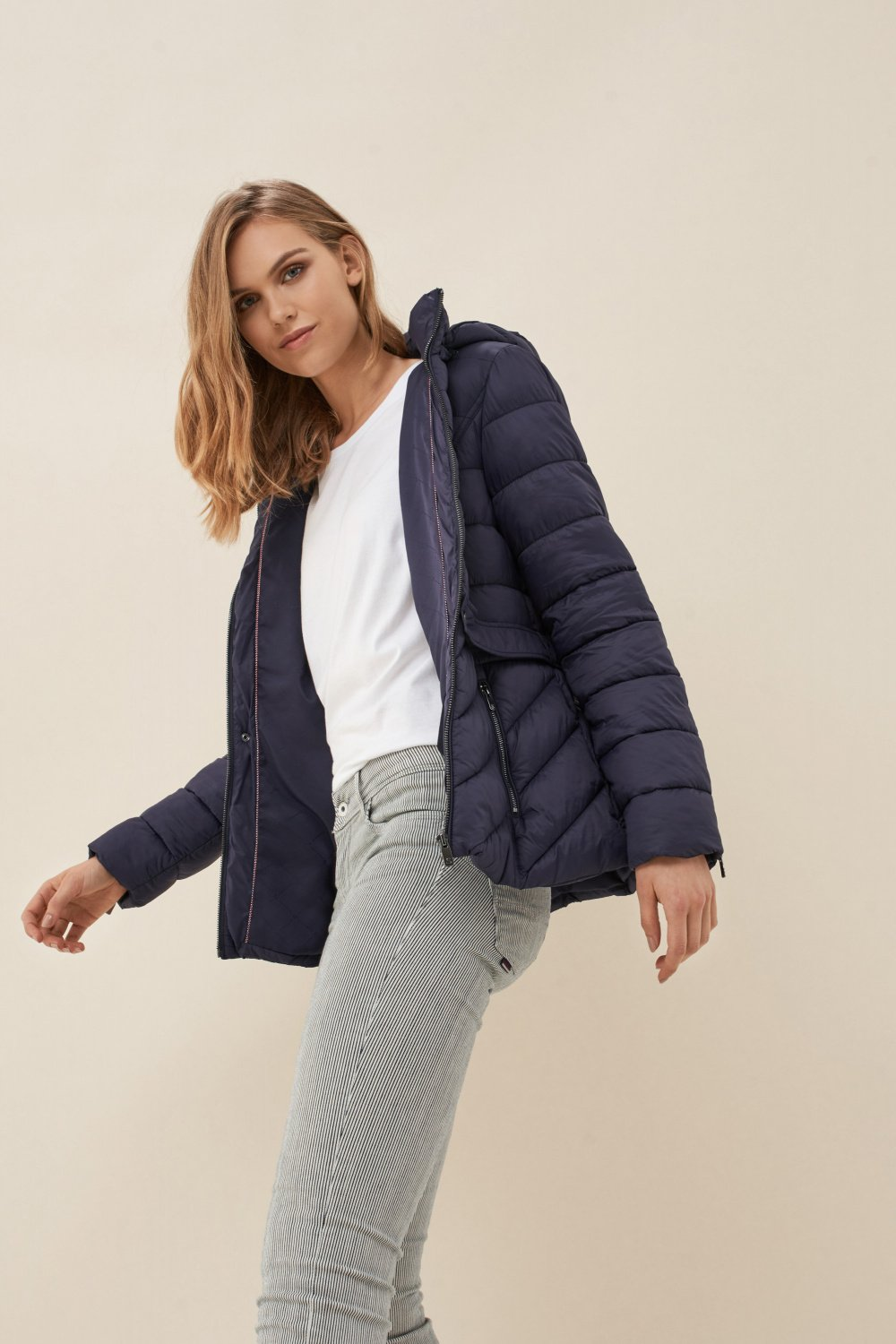 Slim fit puffer jacket with hood - Salsa