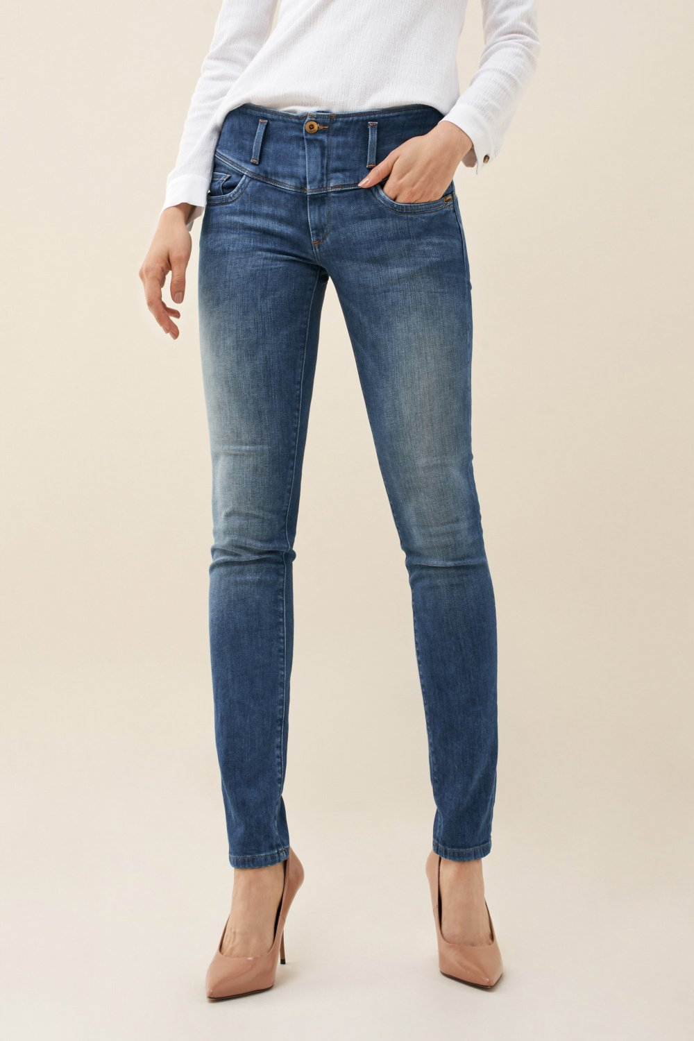 Mystery push up slim jeans - Salsa