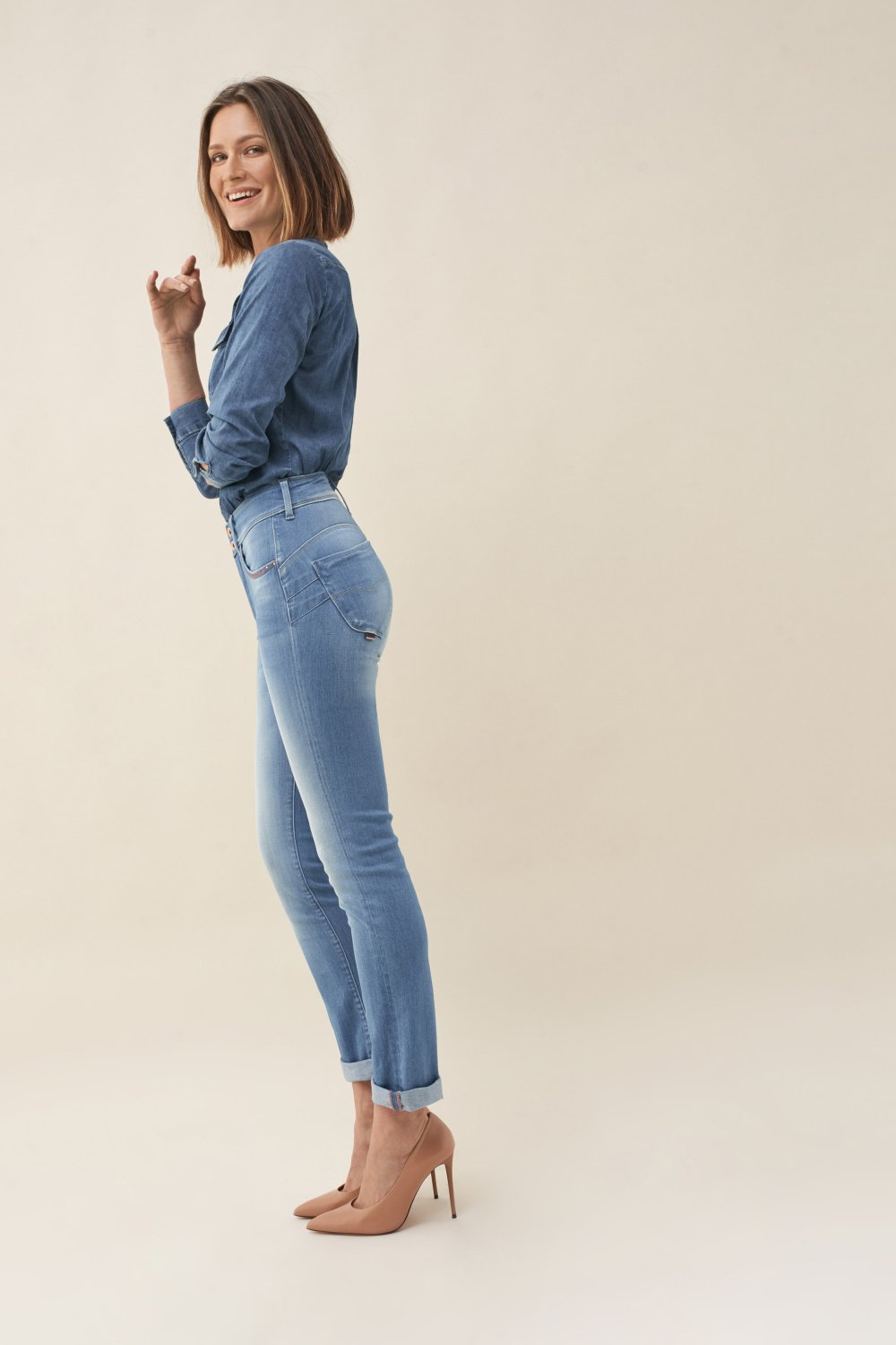 Push In Secret slim jeans with embroidery - Salsa