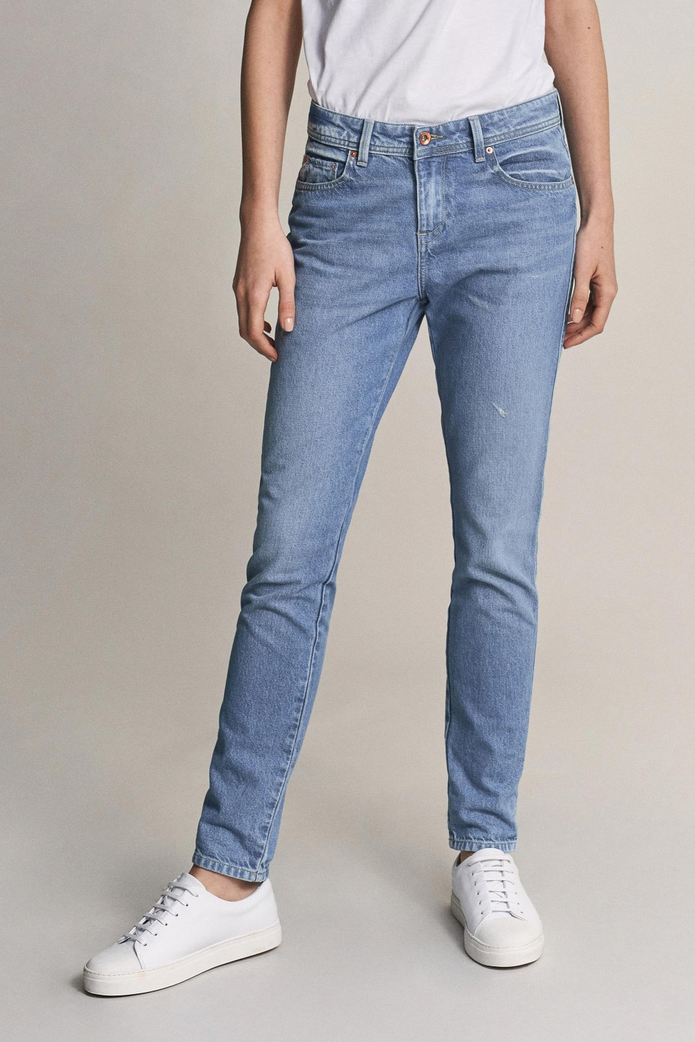 Jeans boyfriend en denim clair - Salsa