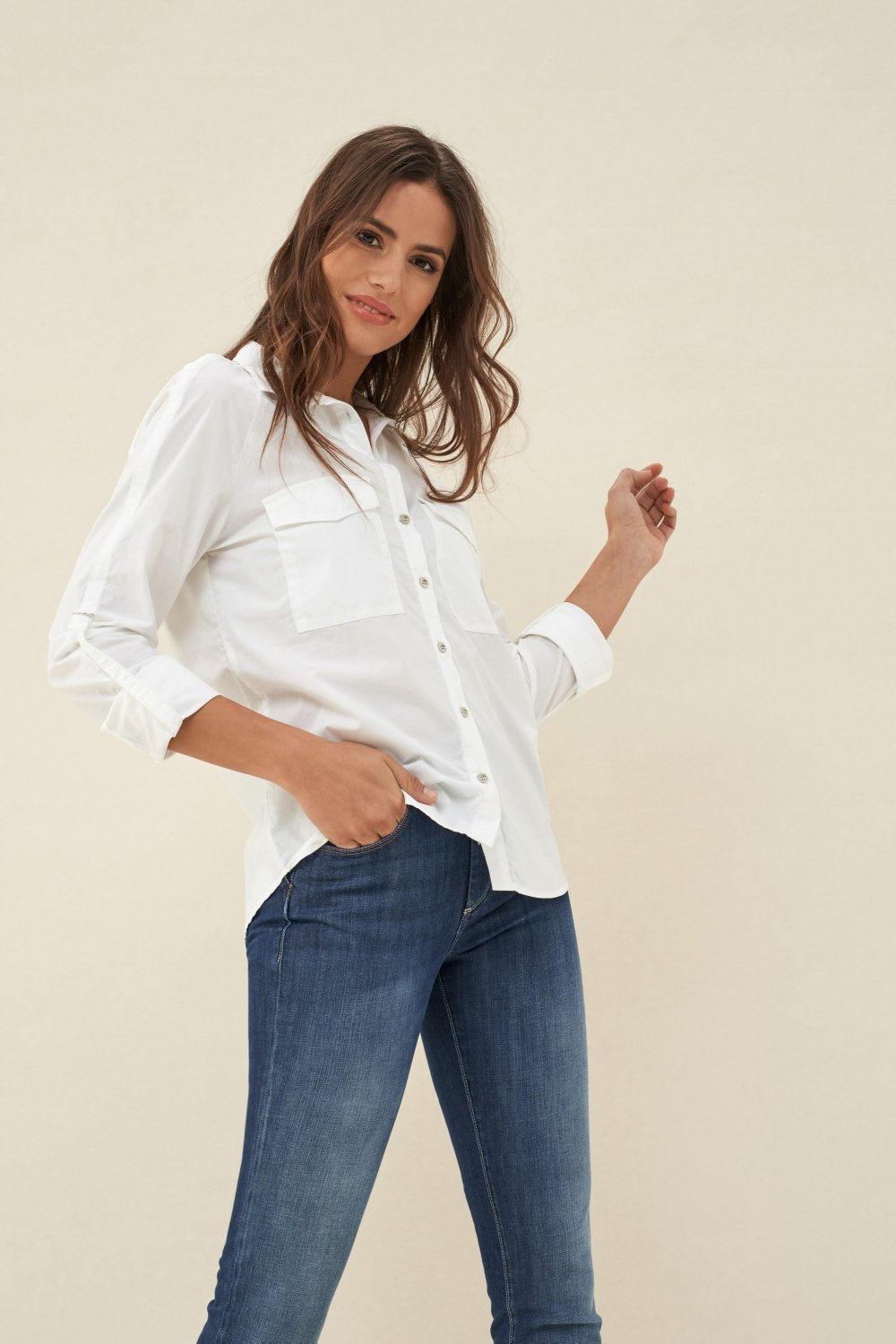 Water-repellant Denim2Go shirt - Salsa