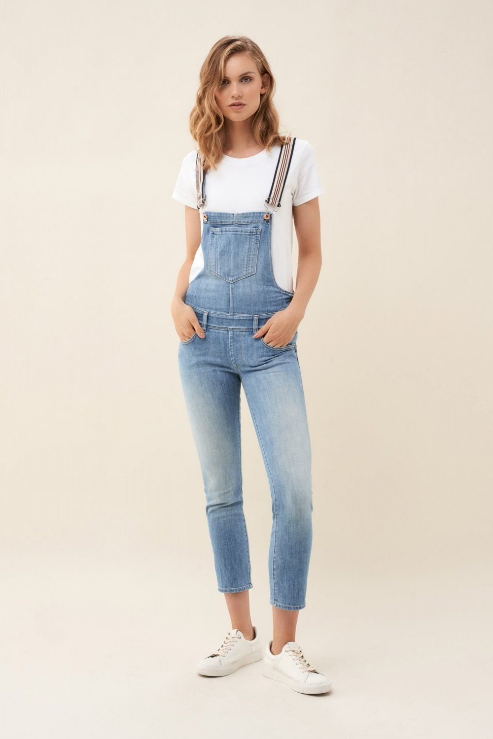 Push Up Wonder dungarees with reversible straps - Salsa