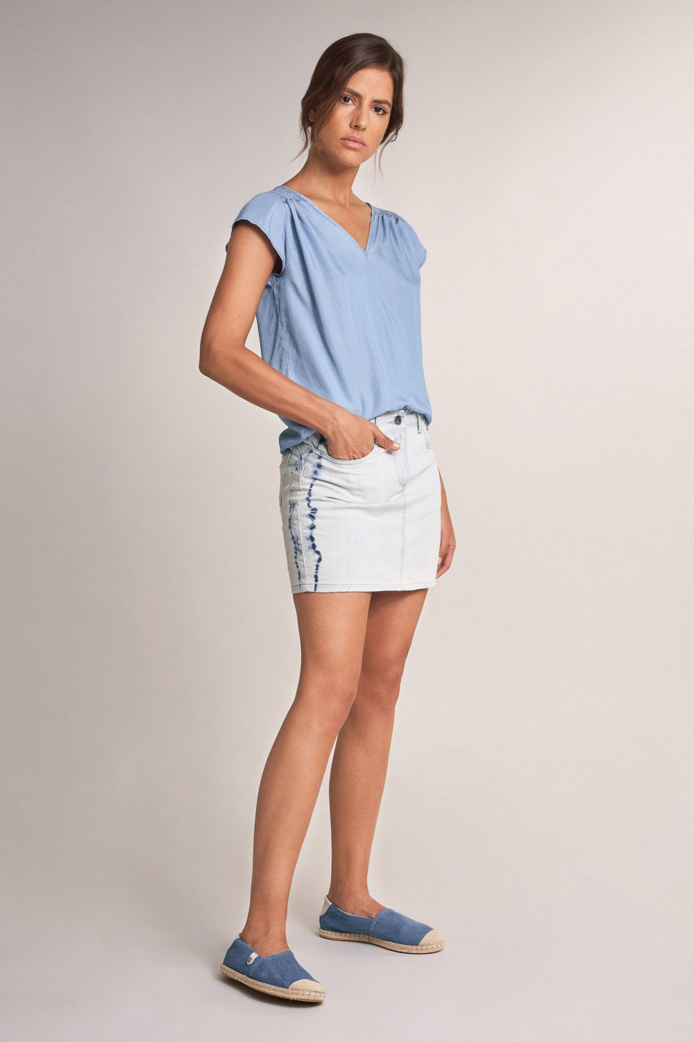 Tunic with cinched shoulders - Salsa