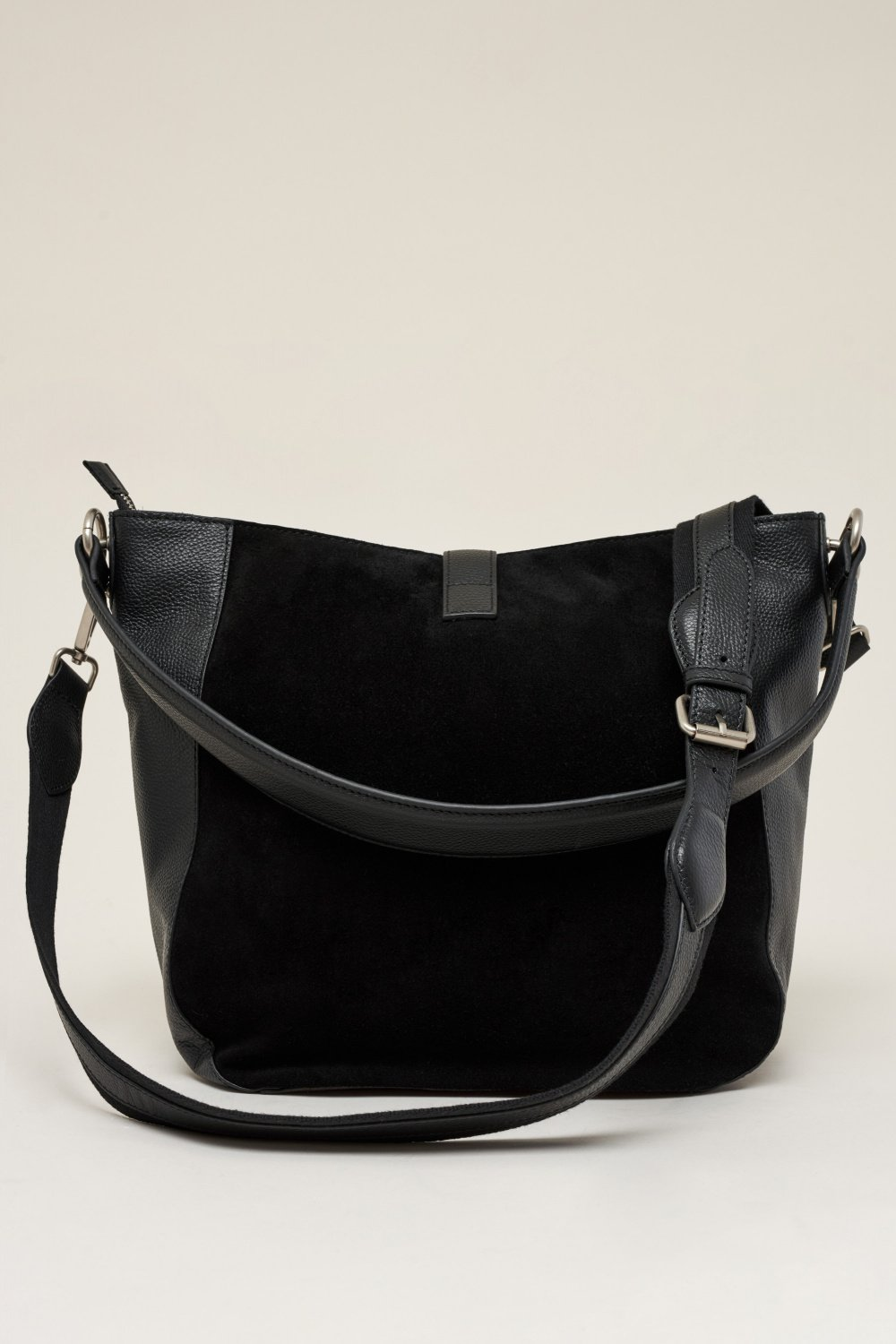 Leather bag with panel - Salsa