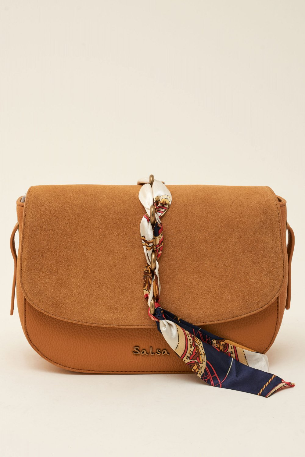 Leather bag with ribbon - Salsa