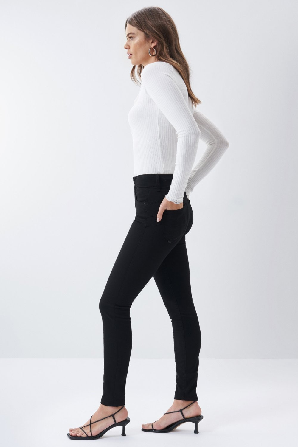 Jeans Push In Secret skinny true black - Salsa