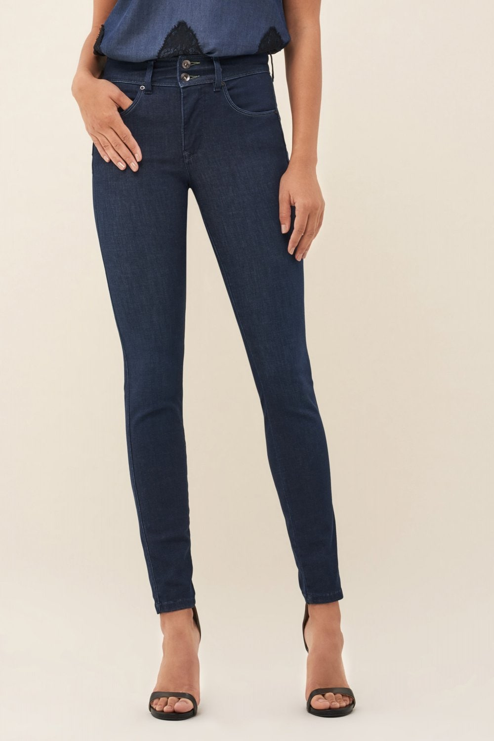 Push In Secret skinny Denim2GO jeans - Salsa
