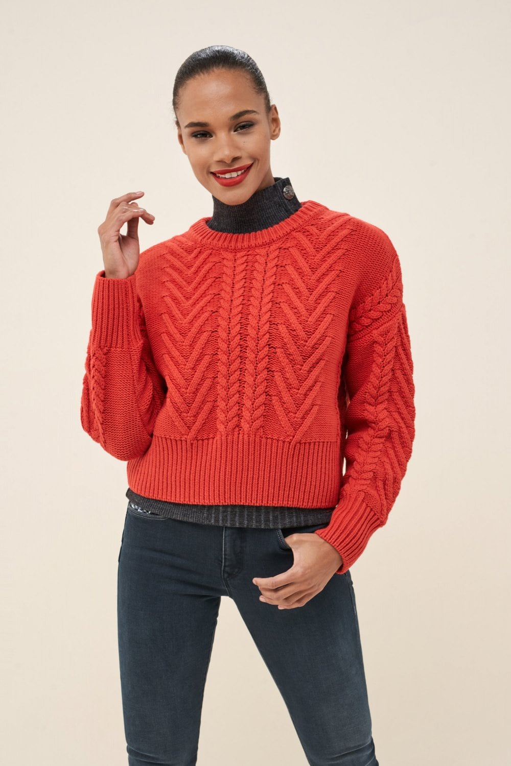 Sweater with ribbons - Salsa
