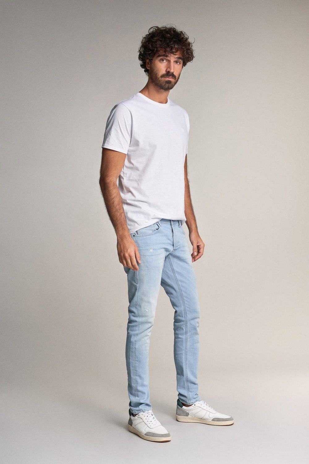 Clash skinny premium wash jeans with rips - Salsa
