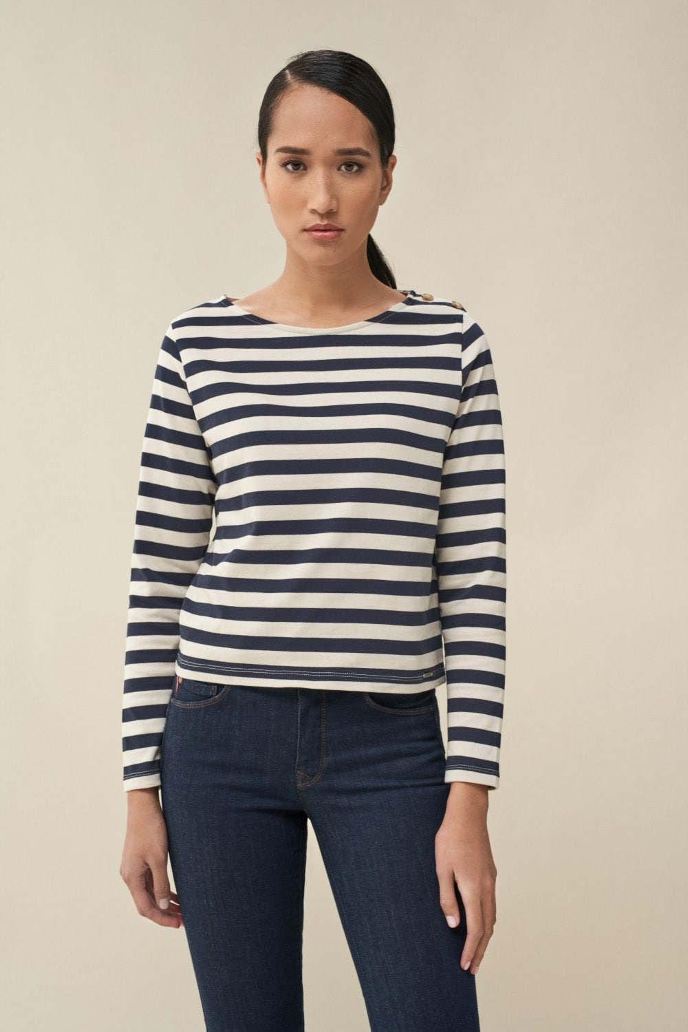 Striped cotton sweater - Salsa