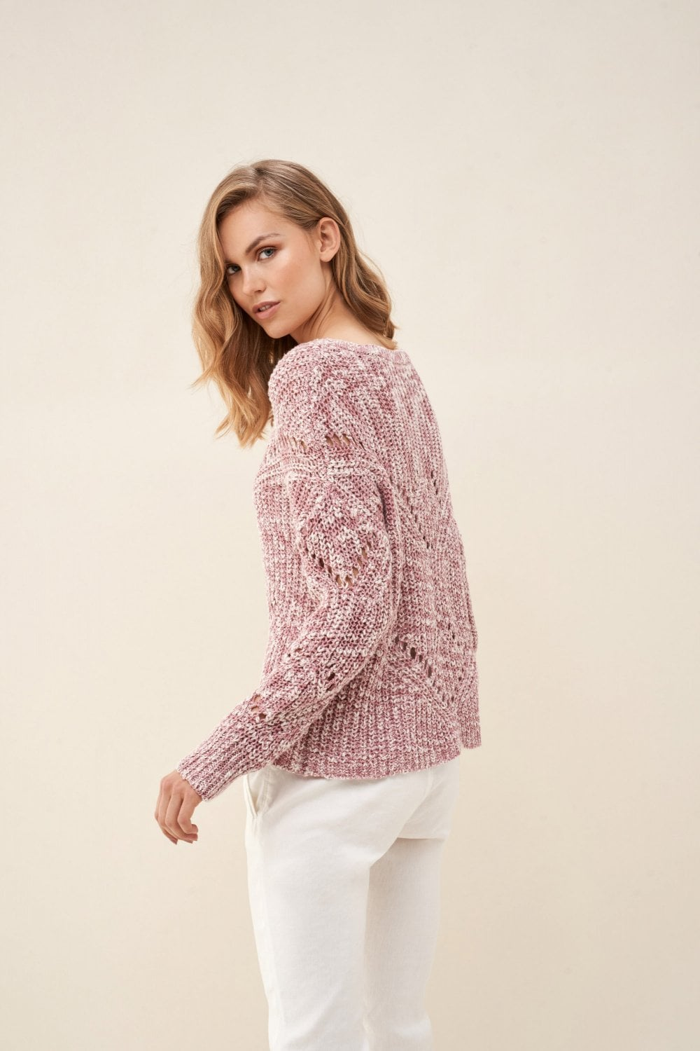 Knitted sweater with detail - Salsa