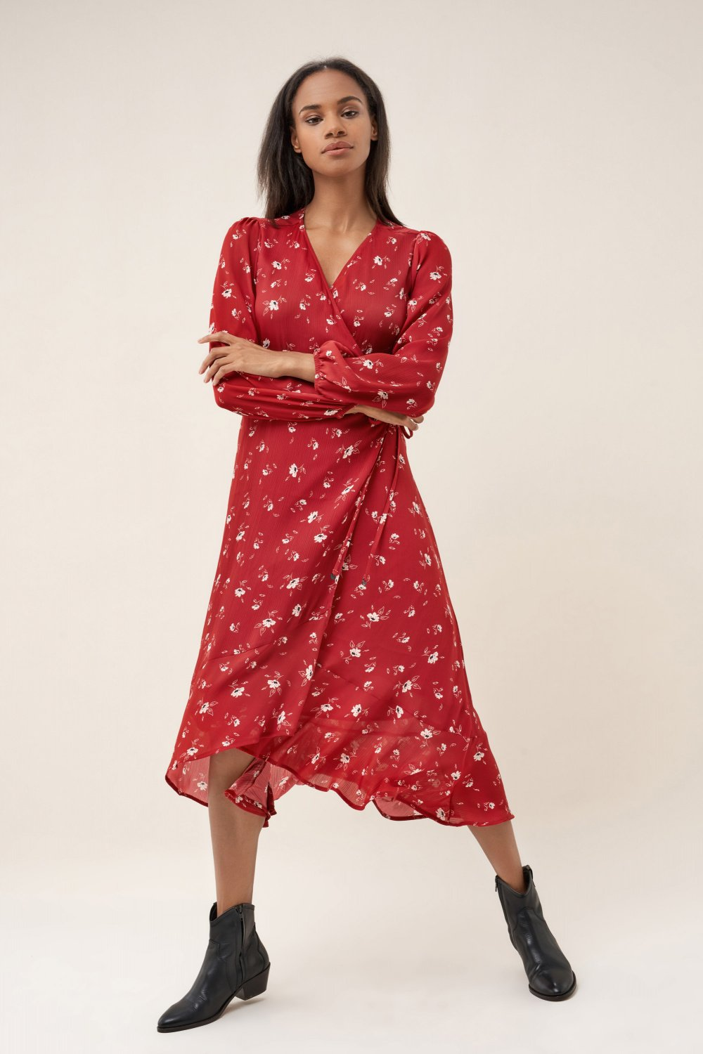 Long dress with floral print - Salsa