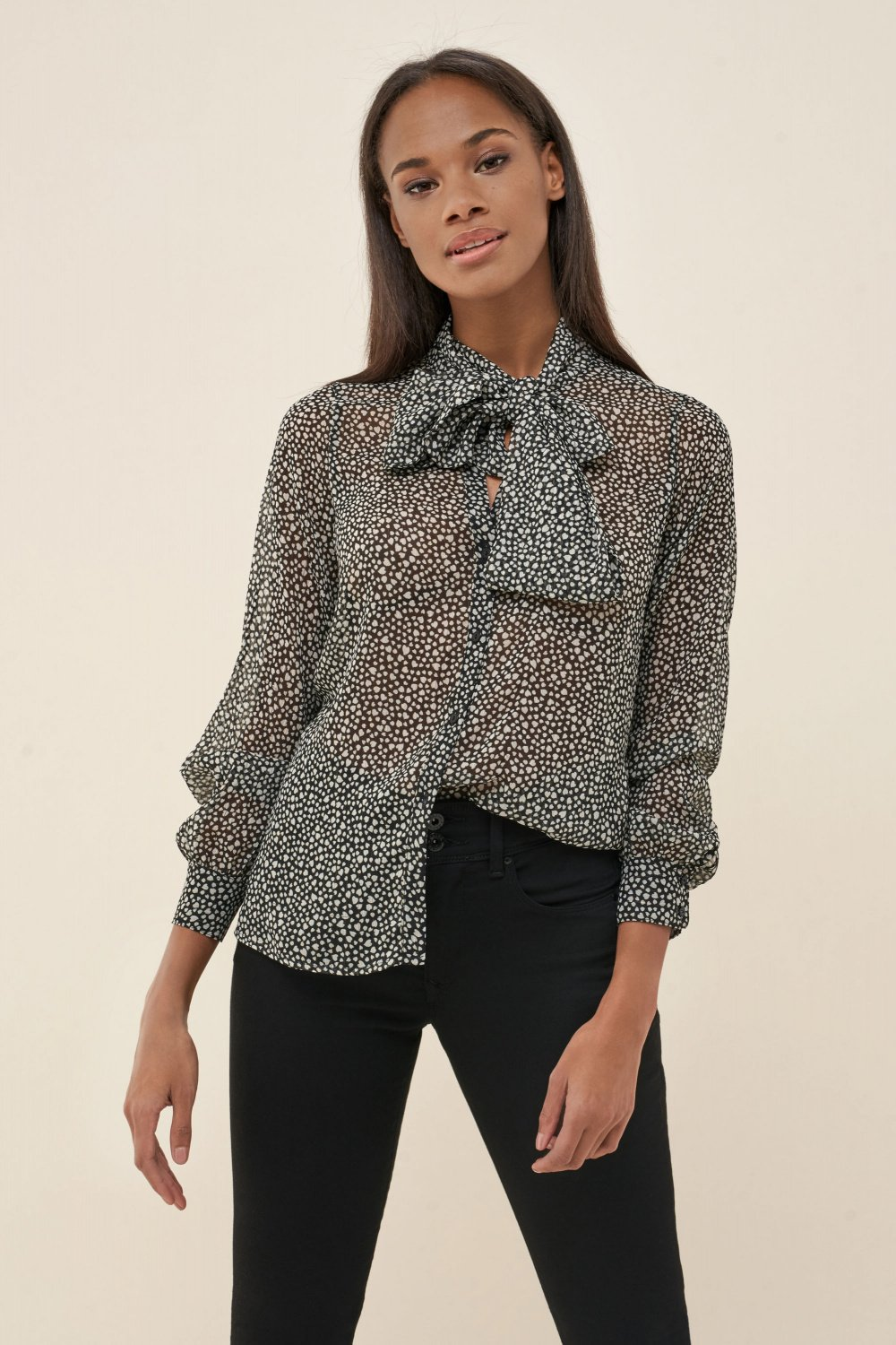 Regular fit shirt with heart print - Salsa