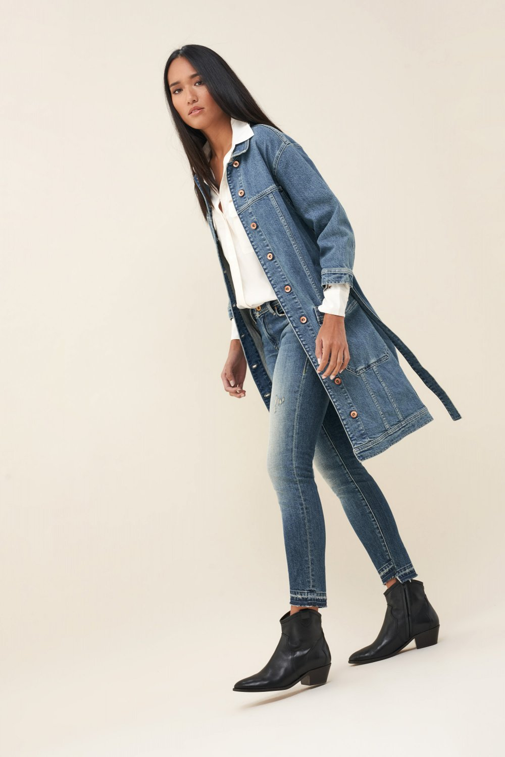 Denim jacket with belt - Salsa
