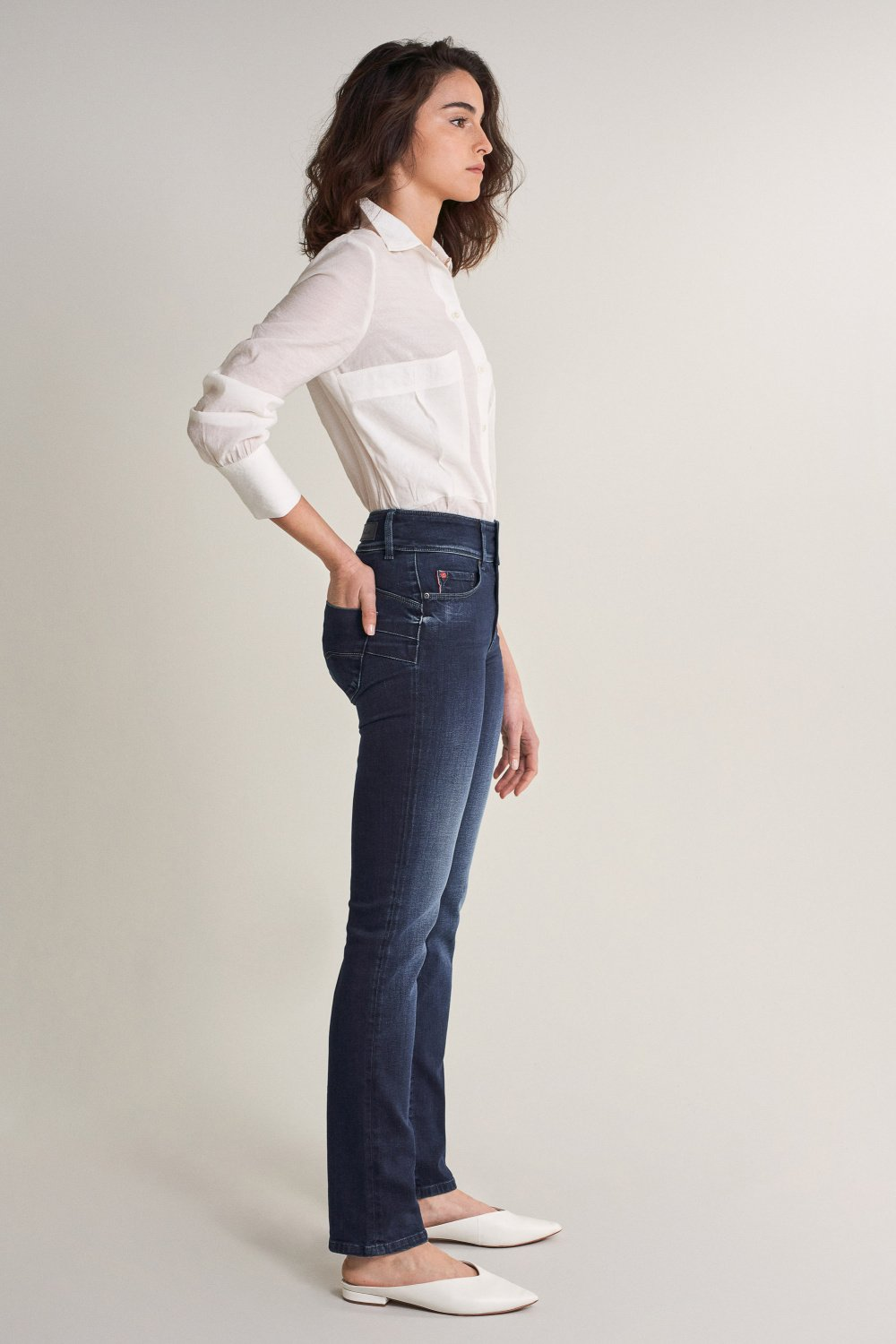 Push In Secret slim dark jeans - Salsa