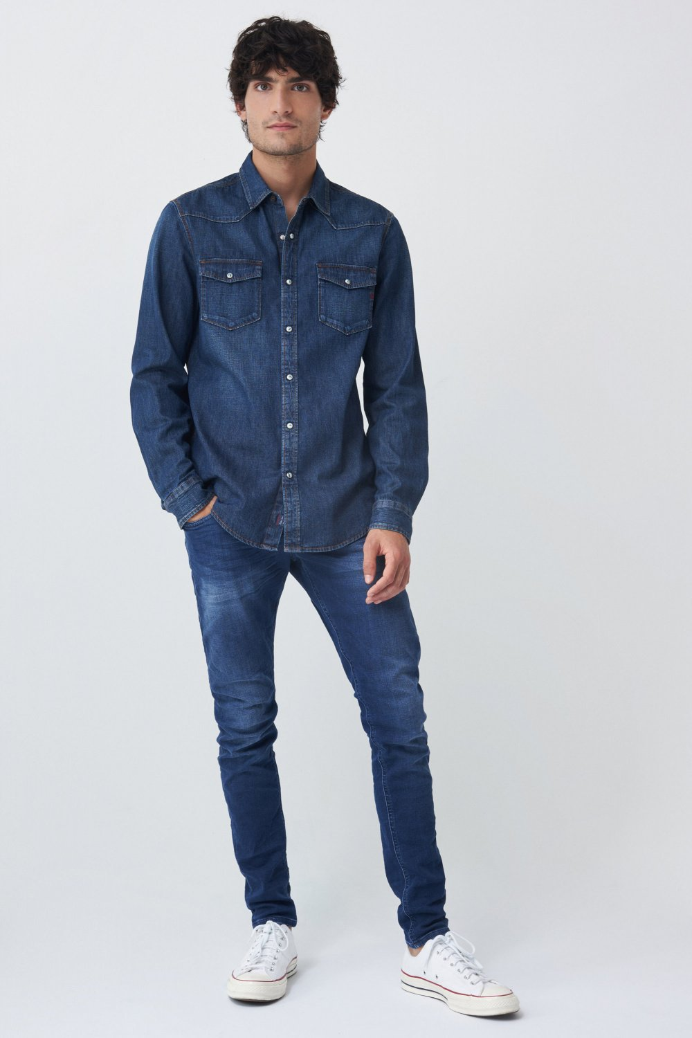 Camicia fit slim in denim - Salsa