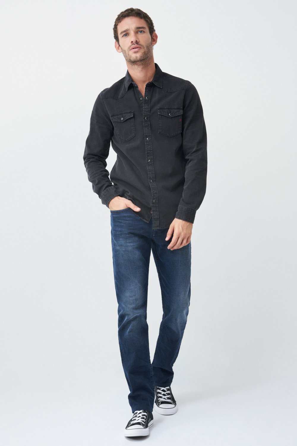 Chemisier slim fit en denim - Salsa