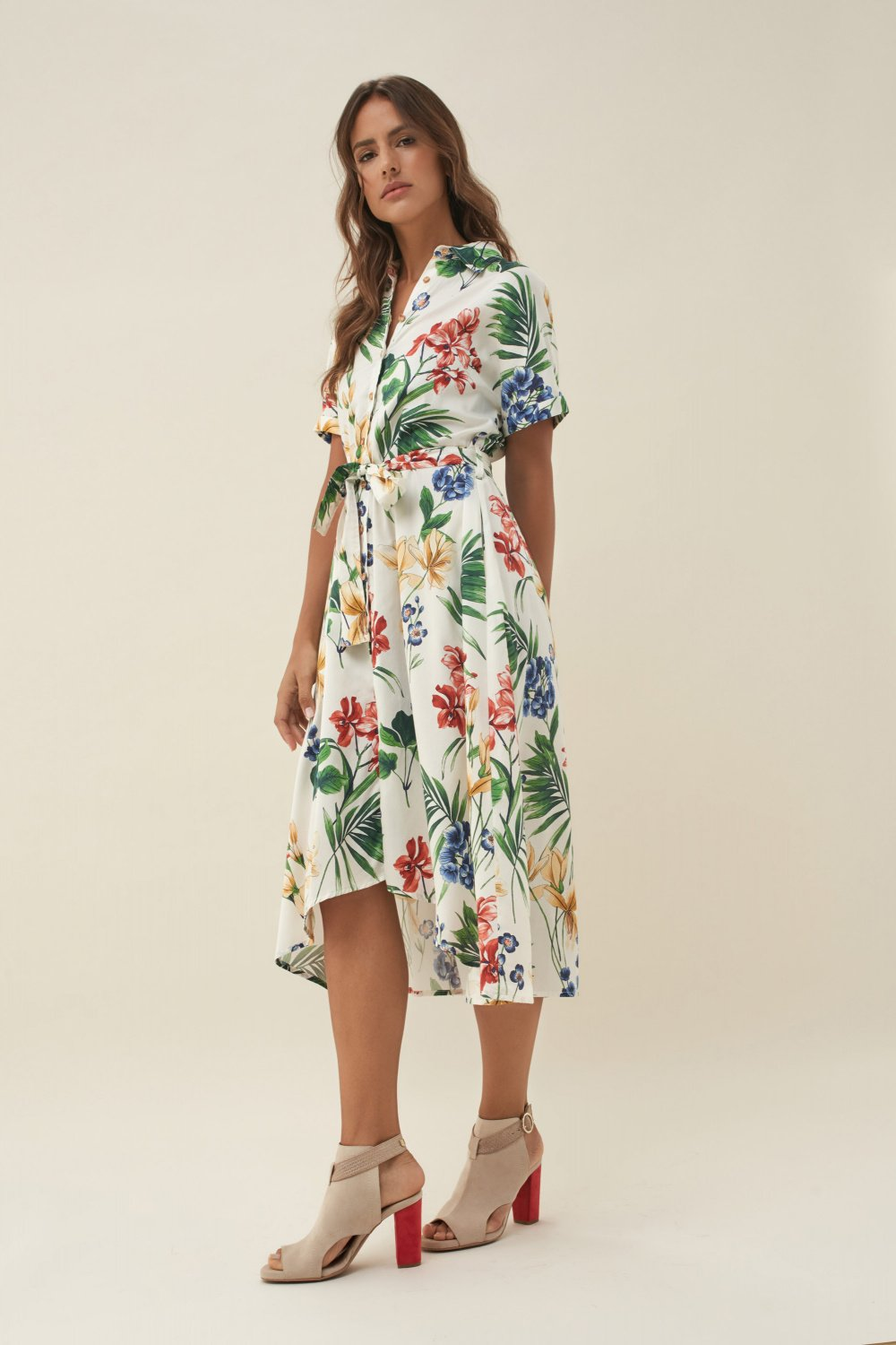 Allover floral print dress - Salsa