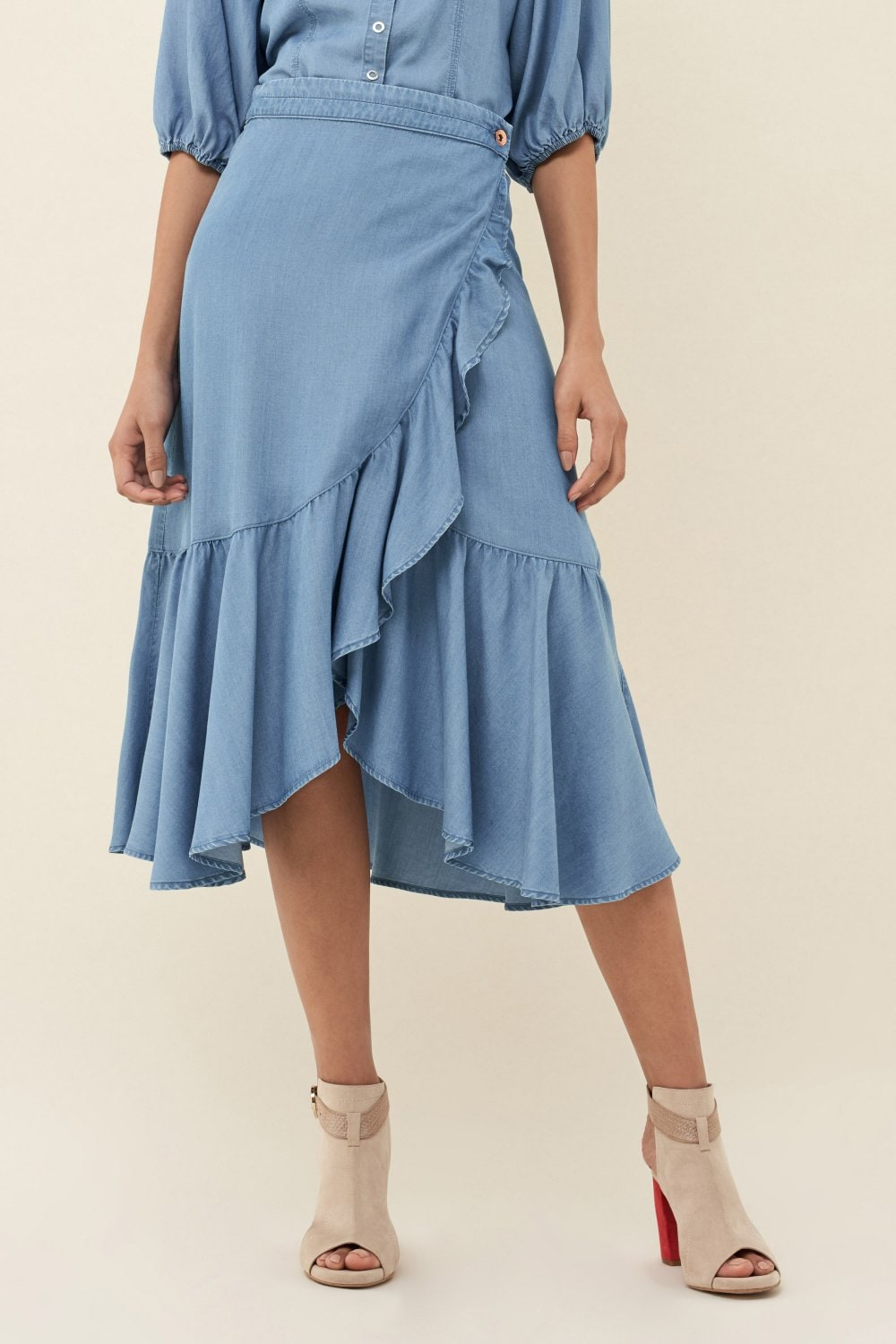 Medium skirt with frill - Salsa