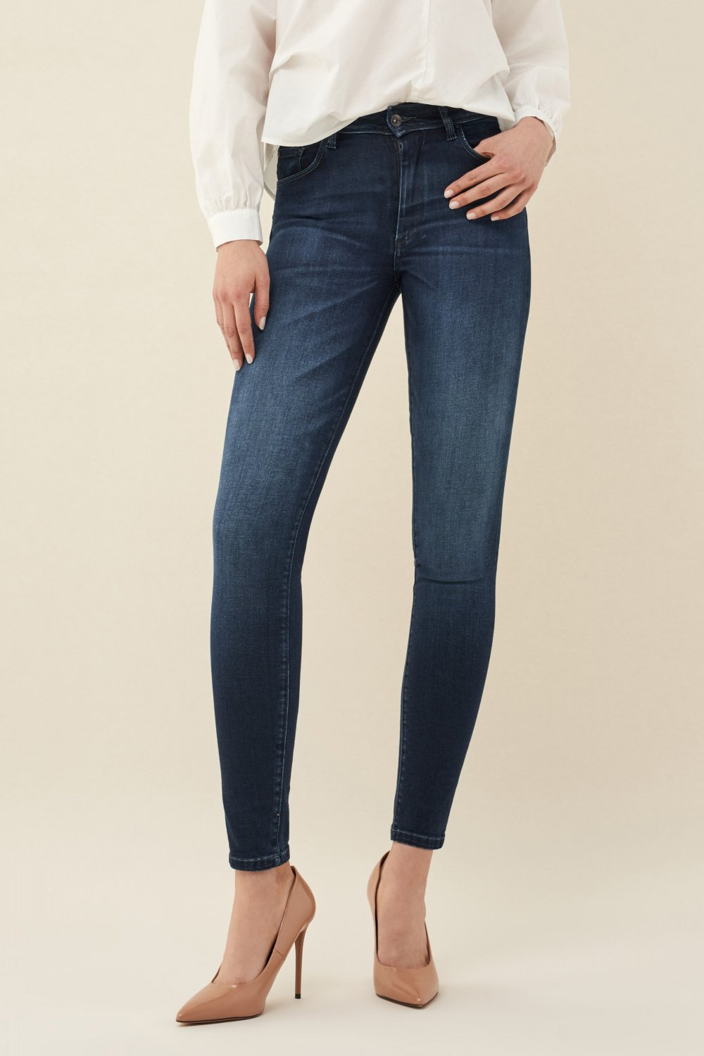 Push Up Wonder skinny dark jeans - Salsa