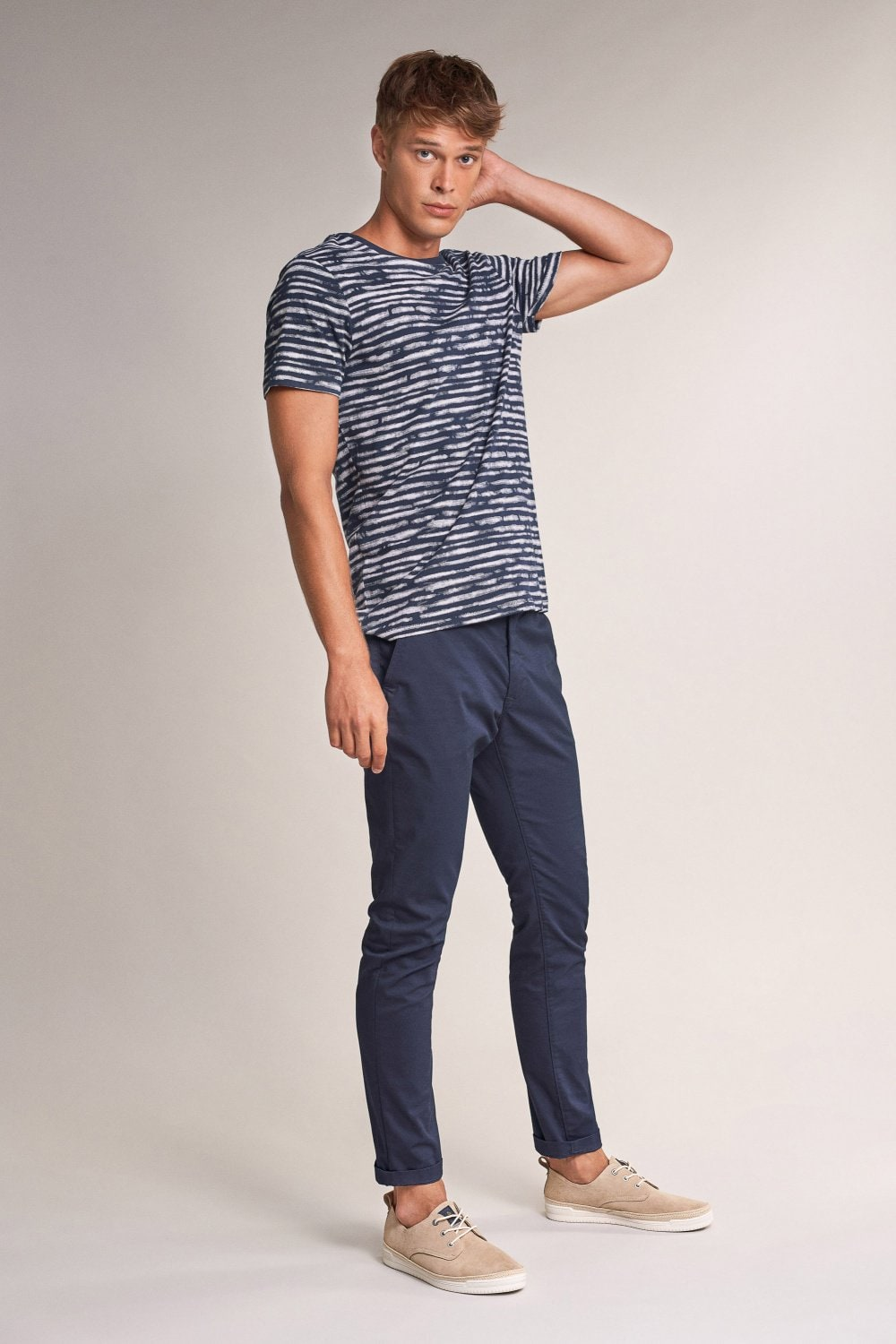 Blue striped t-shirt - Salsa