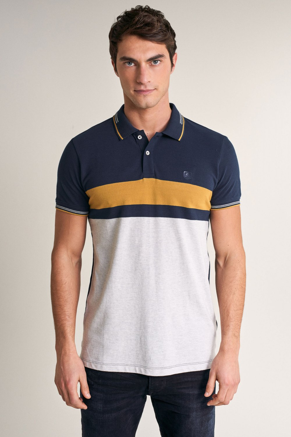 Regular fit polo shirt with stripes - Salsa
