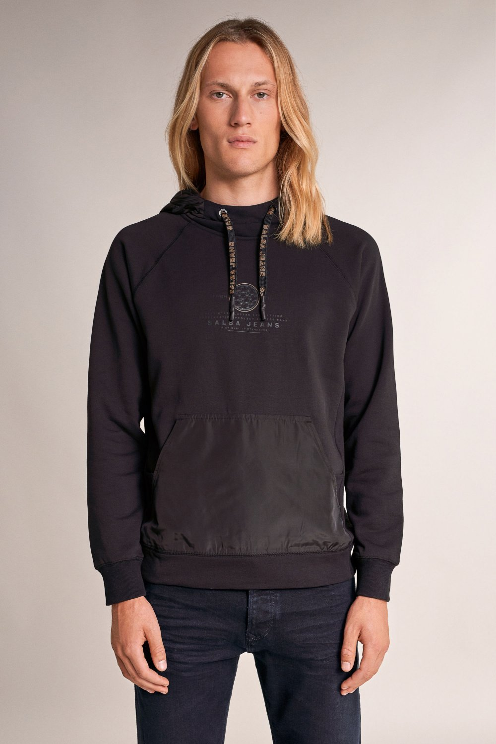 Hoodie, with detachable hood - Salsa