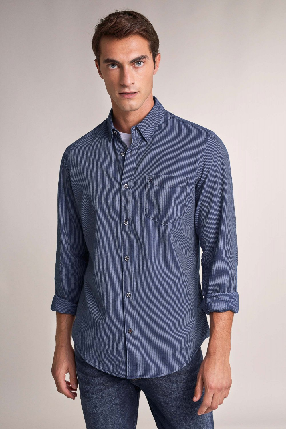 Slim fit textured shirt - Salsa