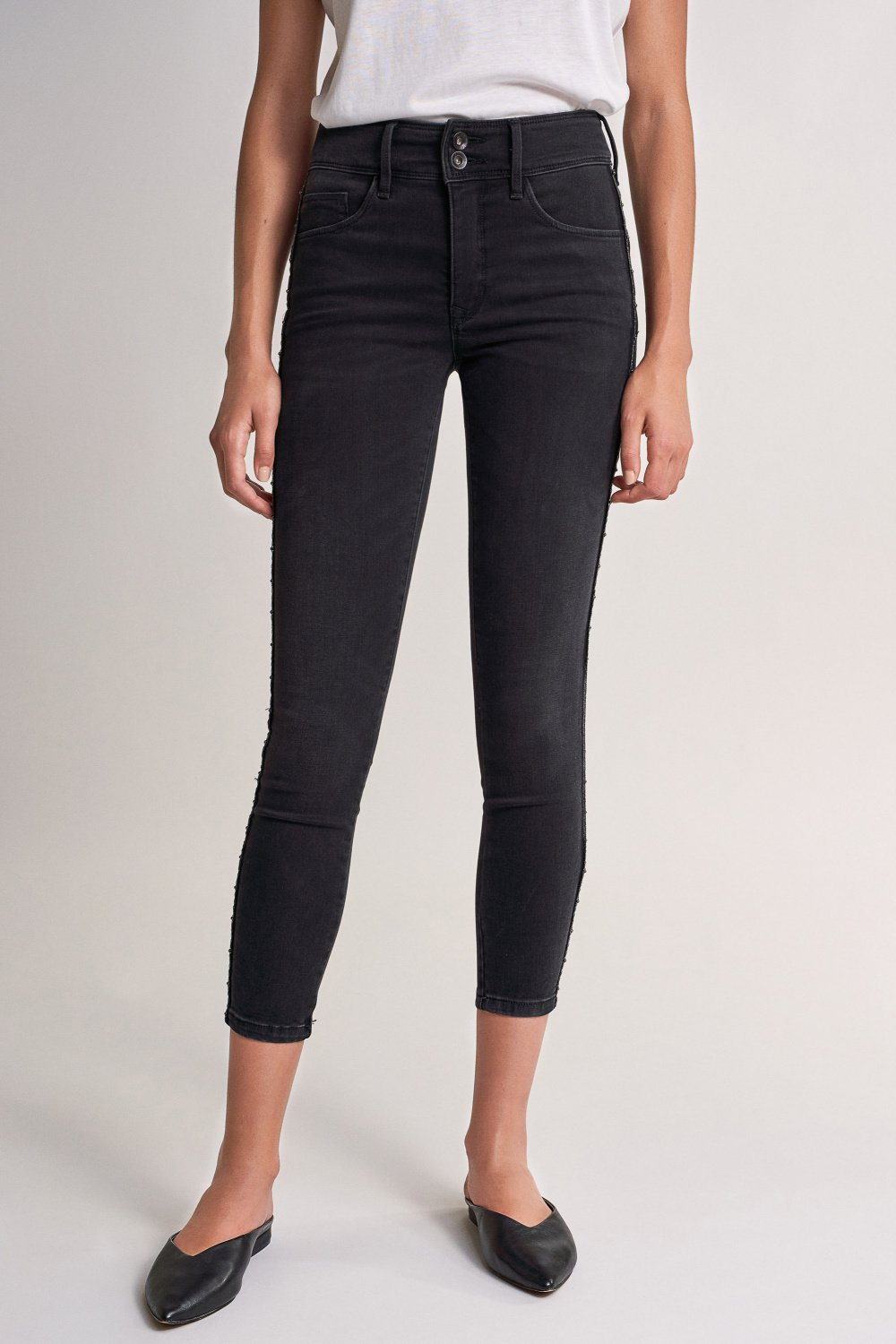 Push In Secret capri jeans with side strip - Salsa