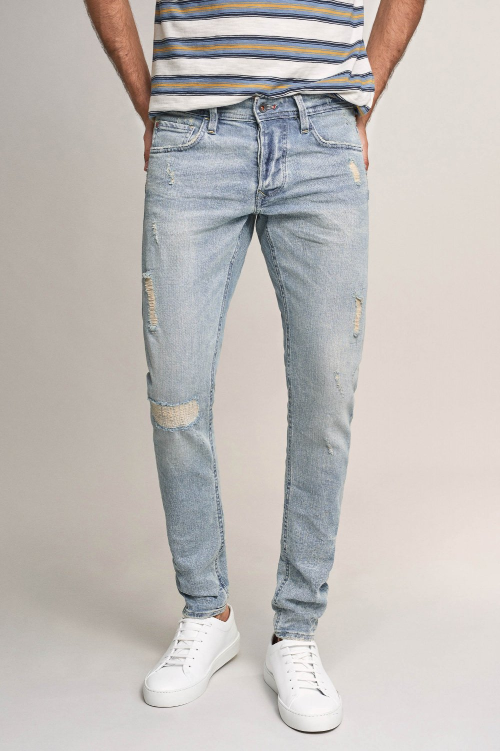 Clash skinny premium wash jeans with wear effect - Salsa