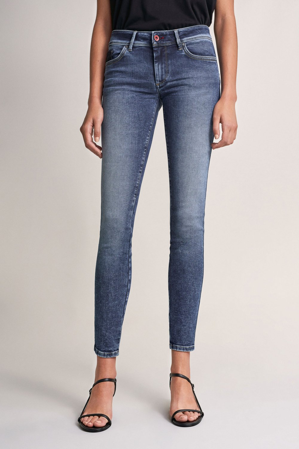 Push Up Wonder skinny jeans with detail - Salsa